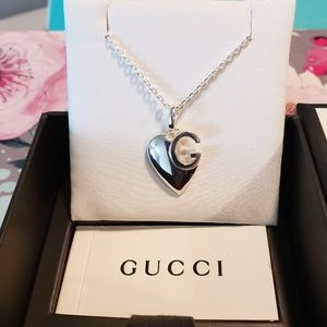 NEW Authentic Gucci G Charlotte Heart Necklace